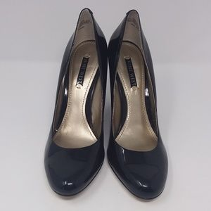 Nine West Black Patent Leather Wedge Heels